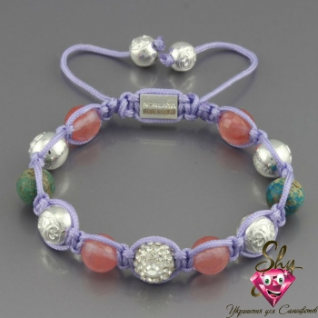 Купить Shamballa из натуральных камней «Планета» Nialaya al248sh, Шамбала ☯, ☯ Шамбала Браслеты ☯, Shamballa Jewels 5 из 5 баллов!